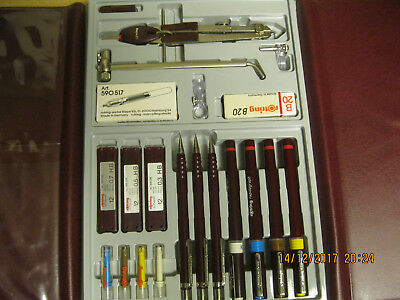 ROTRING Hi-Tech Rapidograph Technical Drawing Pens, Pencil & Accessory Set - N01