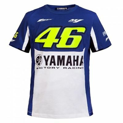 VR46 Official Yamaha Valentino Rossi Blue men's t shirt YDMTS  214409 Size XL