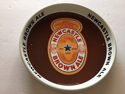 """Vintage Newcastle Brown Ale Beer Tin Tray UK England Advertising 12"""""""