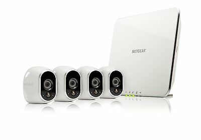 Netgear Arlo  Security System with 4 Wireless HD Cameras (VMS3430-100NAS)  - New