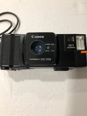 Vintage Canon Snappy 20 Automatic 35mm 1:4.5 Film Camera with Neck Strap FAST SP