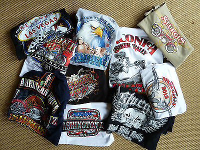 USA Harley/Indian/Triumph BIKER  Medium size cotton T shirts (qty5 for £20) *