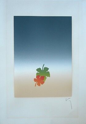 Modernist Serigraph , signature difficult, probably Japanese, unbacked, vg cond