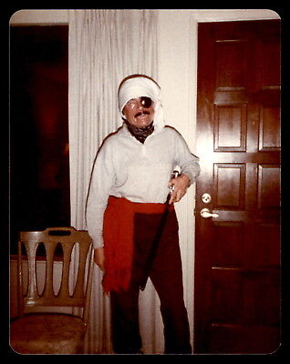 Old man dressed up as a pirate for Halloween 1982 - Found Photo *506