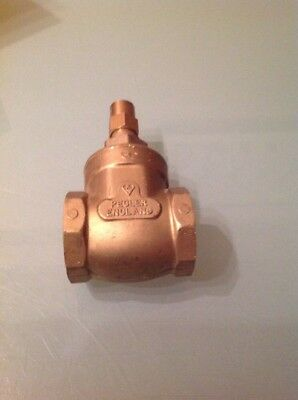 "Pegler Lock shield Brass Gate Valve PN20 1.1/4"" Bsp"