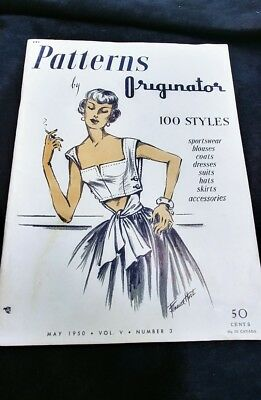 1950 vol. v number 3 patterns by originator catalog