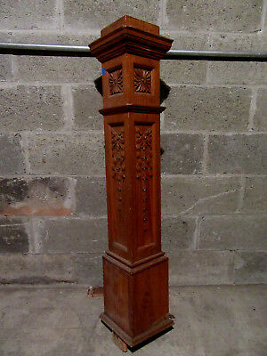 ~ Antique Carved Pine Newel Post ~  44.5 Inch ~ Architectural Salvage ~