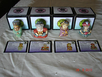 Lot Of 4 Pot Bellys - Historicals  - Wow +