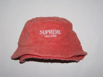 SUPREME New York Terry Crusher CORAL Bucket Hat Cap Small   Medium NEW! S  d847fc2d9401