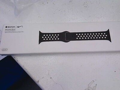 Nike Sport Band Apple Watch 38mm  Anthracite/Black Sport MQ2K2AM/A NEW SEALED