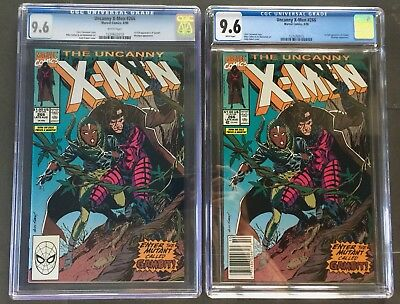 set of TWO X-Men 266 CGC 9.6 White Pages Newsstand UPC variant