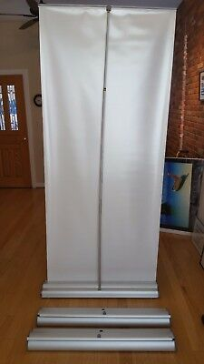 "37"" Retractable, Portable Vertical Vinyl Banner Stand"