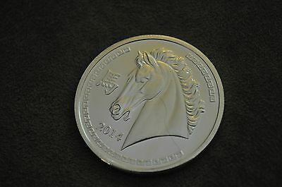 2014 Year of the Horse 1 OZ .999 Fine Silver Coin Round