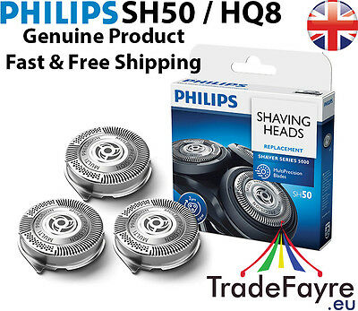 GENUINE PHILIPS SH50 (HQ8) REPLACEMENT HEADS / CUTTERS / FOILS ~ UK Seller