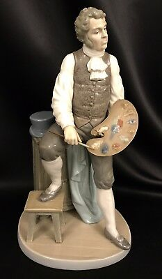 """FREE SHIPPING~Lladro """"Artistic Endeavor"""" Male Painter (5234 Mint Condition) RARE"""