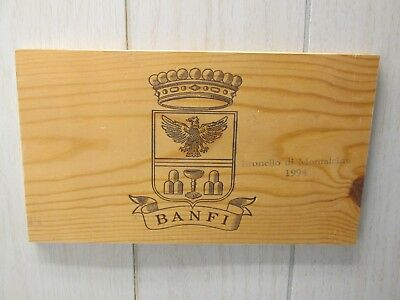 "BANFI 1994 Wine Crate Panel End Wall Decor 12"" X 7"" X 3/8"" Ready to Hang"