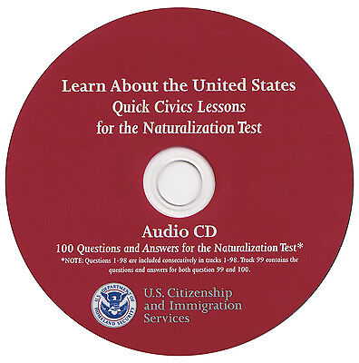 2018 -Questions of 100 Study Guide for the US Citizenship Interview Audio CD