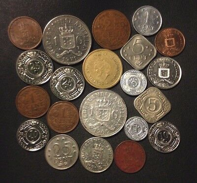 Old Netherlands Antilles/Curacao Coin Lot - 1961-PRESENT - 21 Coins - Lot #D14