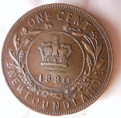 1890 CANADA (NEWFOUNDLAND) CENT - AU - Very Low Mintage Coin - Lot #D14