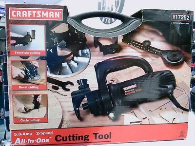 Craftsman 17252 All IN  ONE CUTTING TOOL KIT AC ROTARY TRIM CUTTER ROUTER