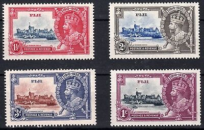 1935 Fiji Kgv Silver Jubilee Issue (Sg# 242-245) Mh Vf