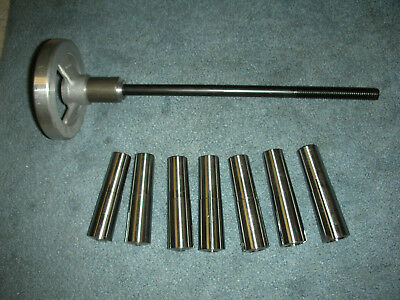 Atlas Craftsman 9-12 Lathe #3 Morse Taper Collet Set+Drawbar/handwheel 7 Collet