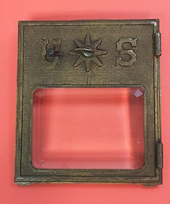 Antique 1902 pat Post Office Postal MAIL BOX DOOR- Geo L Lavery & Co Chicago Ill