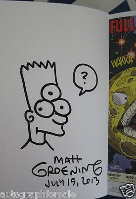 Matt Groening auto signed & doodled Futurama 2013 Comic-Con exclusive comic book
