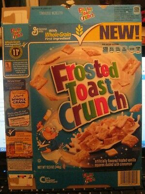 2011 General Mills New Frosted Toast Crunch Cereal Box Vintage Old Story Panel