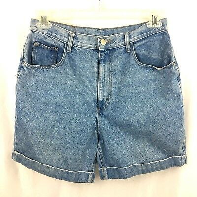 "Vintage Gitano Denim Shorts Womens 31"" Waist Blue Jean High Waist Cuffed Mom"