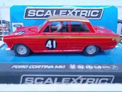 Slot Car Scalextric Ford Cortina Mk1 Alan Mann Racing 1965.