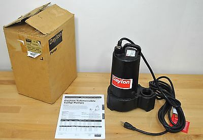 Dayton 1/2 Hp Submersible Effluent Pump 4HU71 Pool Water Utility 1 phase 115V