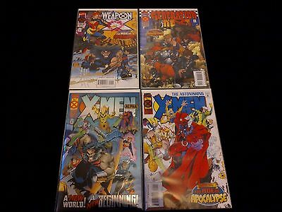 X-Men: Age of Apocalypse Set of 4 Comics Marvel 1995.