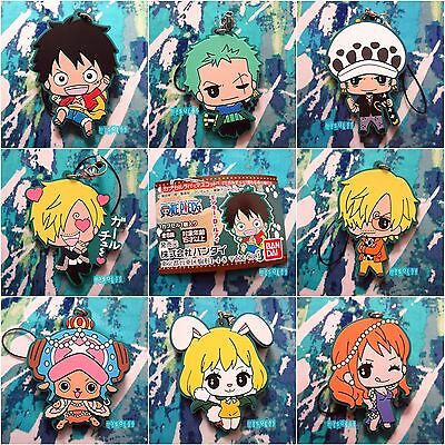 One Piece Rubber Strap Zoro Trafalgar Law Luffy Nami Chopper Sanji Carrot