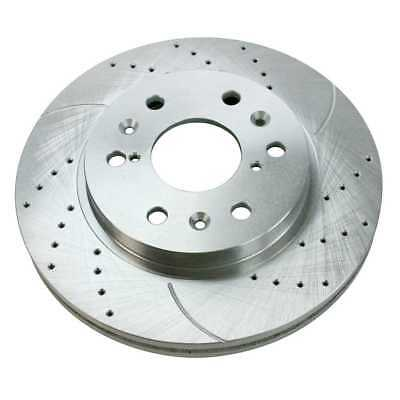 Drilled and Slotted Silver Rotor Left Side Fits CADILLAC CHEVROLET GMC