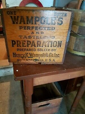 Antique Wooden Crate Box Surgical Medical Medicine  Advertising Philadelphia Pa