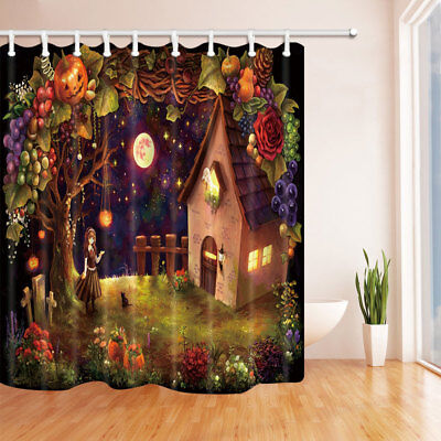 Fairy tree in fog Shower Curtain Home Bathroom Decor Fabric /& 12hooks 71*71inch