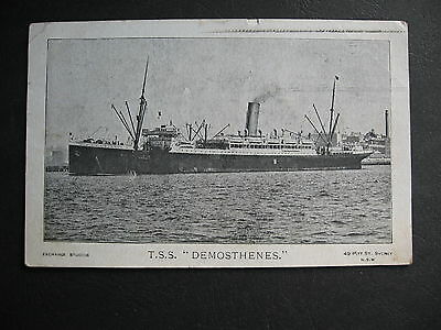 TROOP SHIP TSS Demosthenes  To Seales Anderson St Lilydale