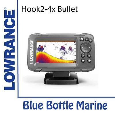 NEW Lowrance Hook2 4x GPS Bullet Skimmer with GPS from Blue Bottle Marine