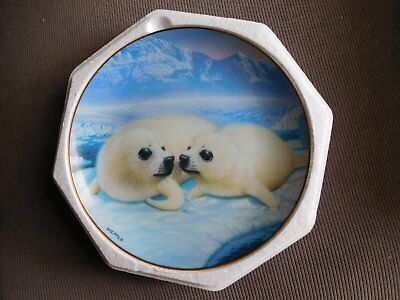 "FRANKLIN MINT PLATE ""Happy Together"" by Mike Wepplo FINE PORCELAIN"