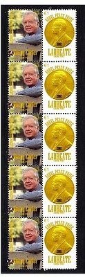 Jimmy Carter Nobel Peace Prize Strip Of 10 Stamps 1