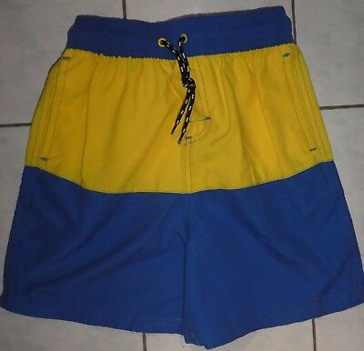 Boy's yellow and blue board shorts size 7 brand new with tags Brand New