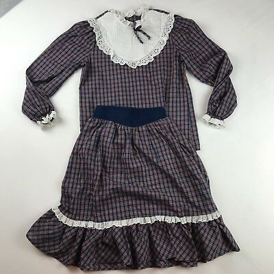 Vintage Bryan & Co. Girls Dress Size 12 Country Square Dance Plaid 2 Piece Skirt