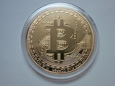 Bitcoin Physical Bitcoin Gold Plated Color BTC Cryptocurrency Collectible Coin