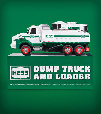 2017 Hess Truck Toy - DUMP TRUCK AND LOADER ~ Brand New ~ FREE USPS PRIORITY S&H