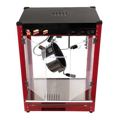 8oz 1370W Tempered Glass Panels  Bar Table Top Popcorn Popper Maker Machine Used
