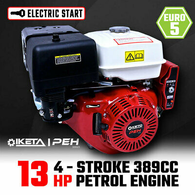 13HP OHV Petrol Engine Stationary Motor Horizontal Shaft Electric Start