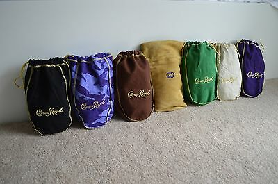 Lot Of 7 Crown Royal Bags / New