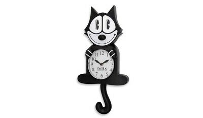 Classic Felix the Cat Plastic 3-D Motion Wall Clock (Moving Eyes and Curly Tail)
