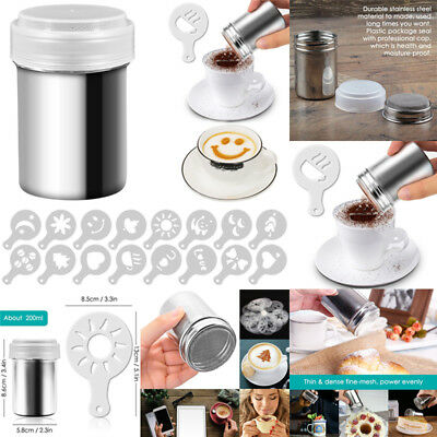 Stainless Steel Shaker Flour Sifter Sugar Icing Coco Chocolate Dredger Sprinkler